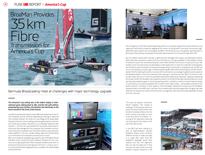 America s Cup screen publications